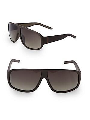gucci female 66mm logo embellished wrap sunglasses
