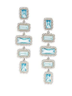 Rapture Five-Stone Crystal Drop Earrings