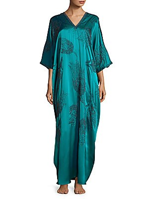 V-Neck Beaded Caftan