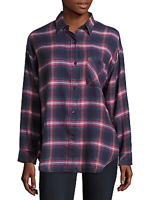 Jackson Cotton Blend Plaid Shirt