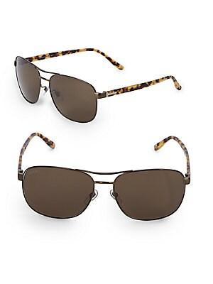 gucci female 62mm aviator sunglasses