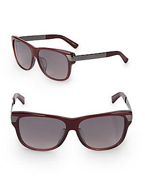 gucci female 59mm rectangular wayfarer sunglasses