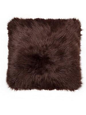 Belton Square Faux Fur Pillow