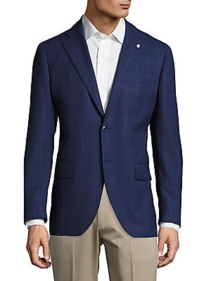 Wool Windowpane Jacket