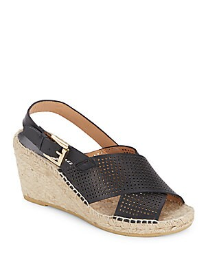 Direct Perforated Espadrille Wedges