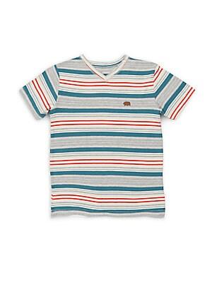 Boy's Desert V-Neck Striped Tee
