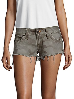 Camo-Print Cotton Shorts