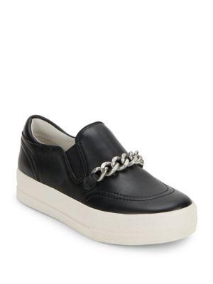 아쉬 조 슬립 온 스니커즈 (블랙) ASH leather slip-on sneakers