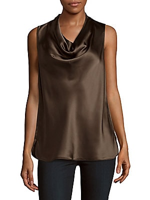 Solid Silk Tank Top