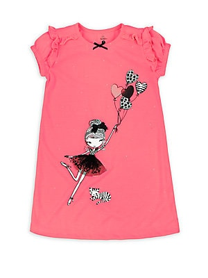 Little Girl's & Girl's Printed Nightgown