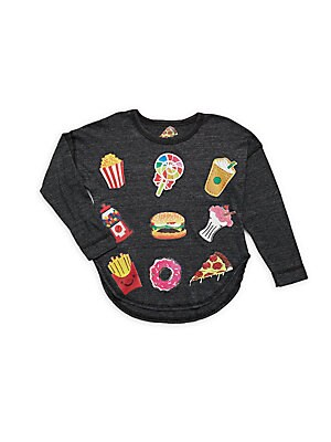 Girl's Emoji Long-Sleeve Pullover