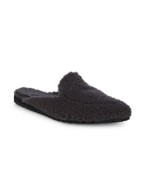BACKLESS SHEARLING LOAFERS