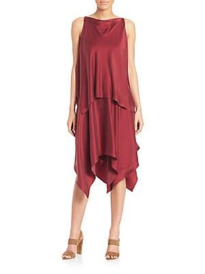 Greer Silk Ruffle Dress