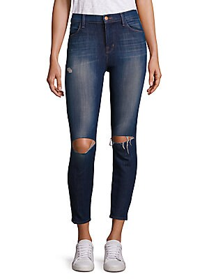 Alana High Rise Distressed Cropped Jeans
