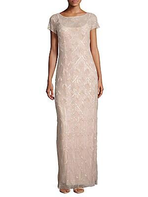 Beaded Ankle-Length Dress