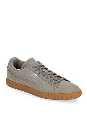 Suede Classic Lace-Up Shoes