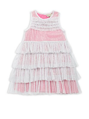 Little Girl's & Girl's Multicolored Ruffled Dress