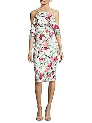 Floral Off-The-Shoulder Midi Dress
