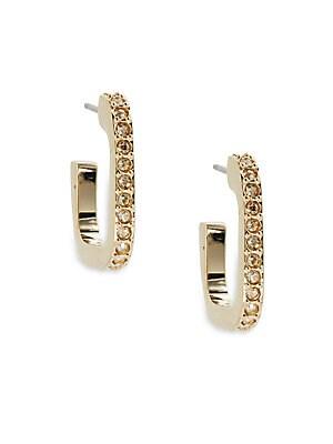 Ilana Crystal Hoop Earrings- 0.62in
