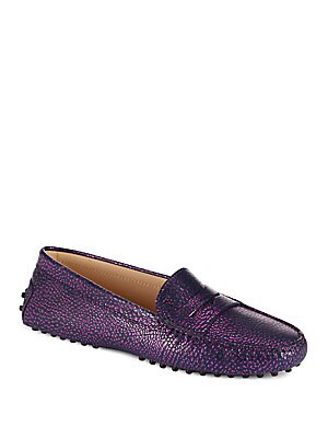 Gommini Sparkling Leather Moccasins