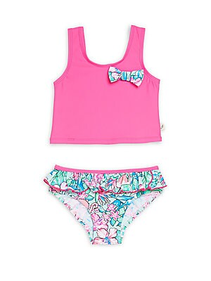 Little Girl's & Girl's Floral Printed Bikini
