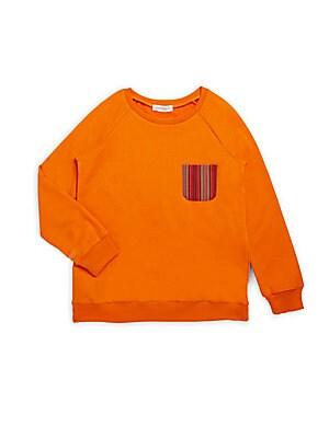 Little Boy's Textured Crewneck Pullover