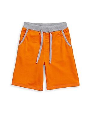 Little Boy's & Boy's Textured Banded Waist Shorts
