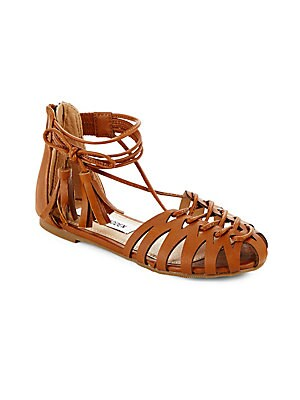 Girl's Back-Zip Strappy Sandals