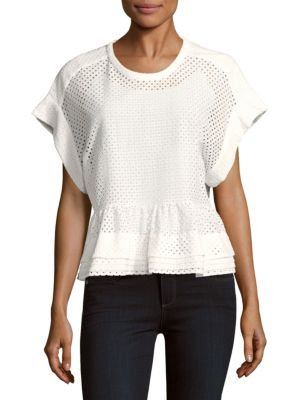 Glen Layered Peplum Top