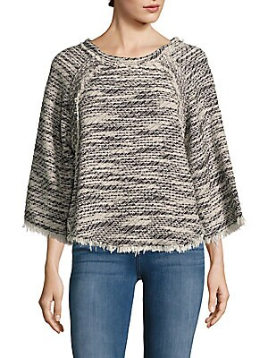 Licia Frayed Textured Top