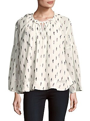 Naomi Flared Bell-Sleeve Top