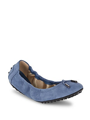 Dee Laccetto Suede Ballet Flats