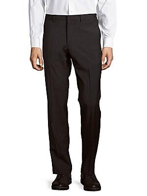 Marlo Windowpane Pattern Woolen Pants
