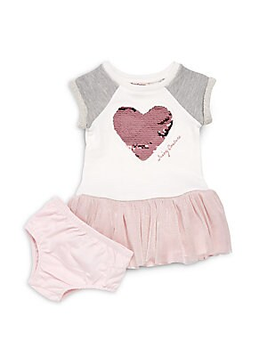 Baby's Cotton-Blend Dress & Bloomers Set