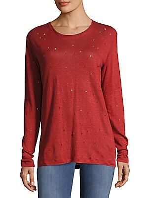 Marvina Textured Linen Pullover