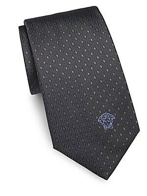 Embroidered Silk Tie