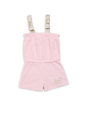 Little Girl's Smocked Neck Romper