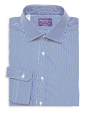 Aston Striped Tailored Long-Sleeve Dress Shirt