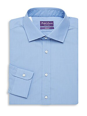 Aston Tailored Cotton Long-Sleeve Dress Shirt