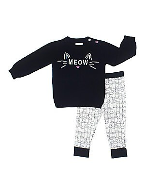 Baby's Meow-volus Two-Piece Printed Set