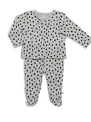 Baby's Two-Piece Spotted Cotton Set