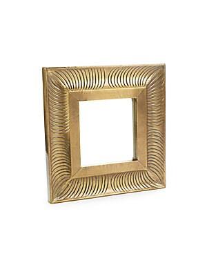Square Brass Mirror