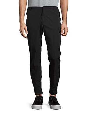 Solid Tapered-Leg Pants