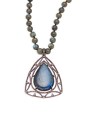 Click here for Diamond & Sterling Silver Pendant Necklace prices