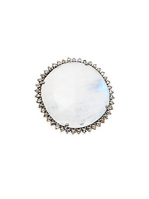 Click here for Diamond & Rainbow Moonstone Ring prices