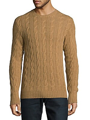 Cableknit Cashmere Sweater