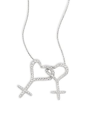 Click here for Wedded Me Diamond & 18K White Gold Pendant Necklac... prices