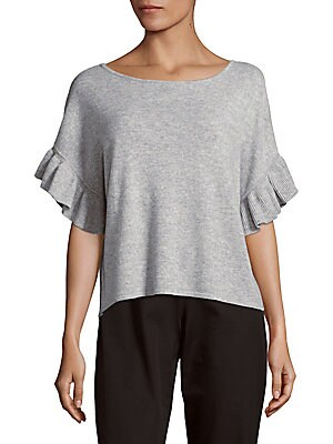 Saks Fifth Avenue Solid Cashmere Top | Clothing
