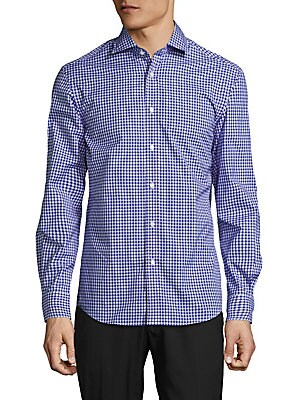 Aston Shaped Fit Cotton Button-Down Shirt