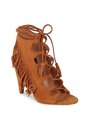 Tassel Leather Ankle Boots